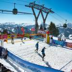 Tolles Panorama bei der Snowvolleyball Tour Wagrain